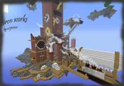 iron works now with world save of the progress so far Minecraft