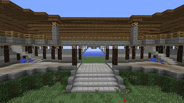 Market Rules Building With Small Garden Minecraft Project