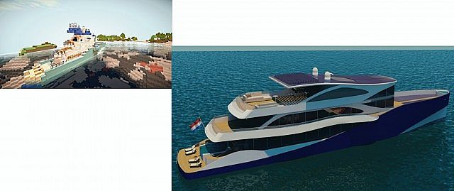 Eco-Friendly Modern Cruise Luxury Ship Minecraft Project