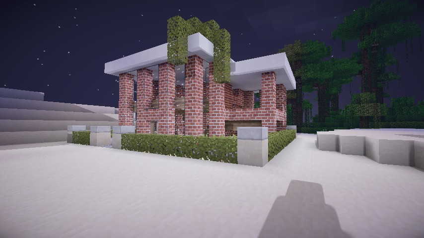 Modern Brick House Minecraft Project