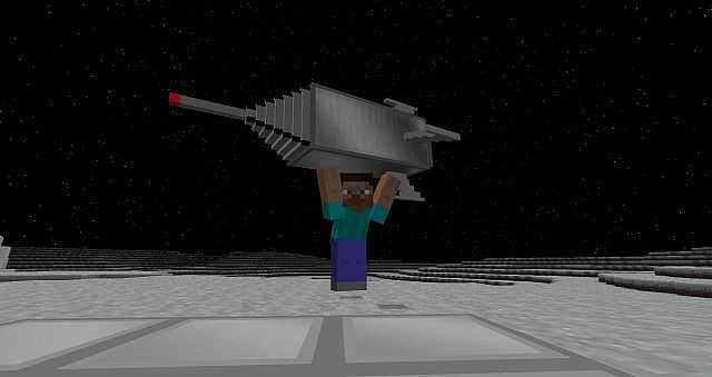 Player holding a spaceship