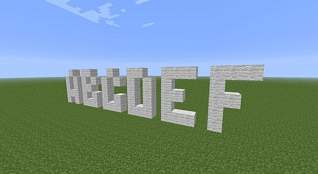 Easy to make text in Minecraft worlds