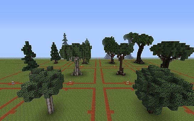 The Evil Sketch U0026 39 S Custom Trees Minecraft Project