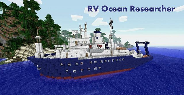 Survey Ship Rv Ocean Researcher Minecraft Project