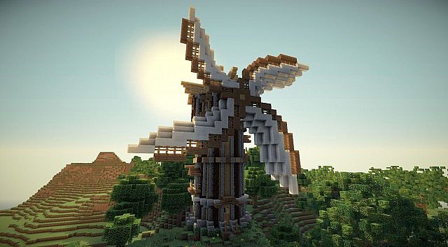 Minecraft Windmill Blueprints Unity windmill - with download minecraft ...