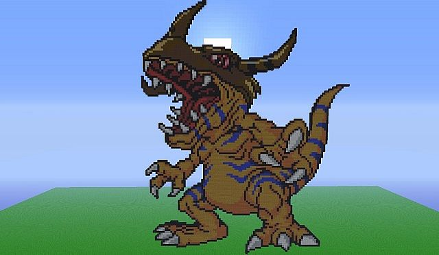 Agumon Digi Evolutions Minecraft Project