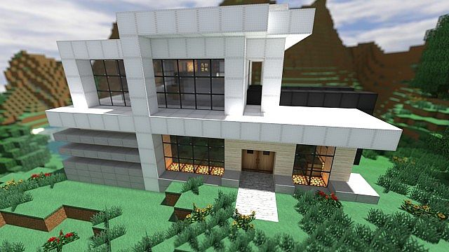 Casa moderno minecraft project for Minecraft moderno