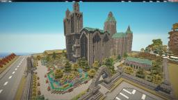 Retro-Modern Cathedral Minecraft Map & Project