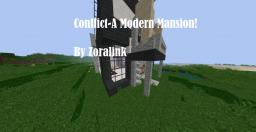 Conflict- A Modern Mansion! Minecraft Map & Project