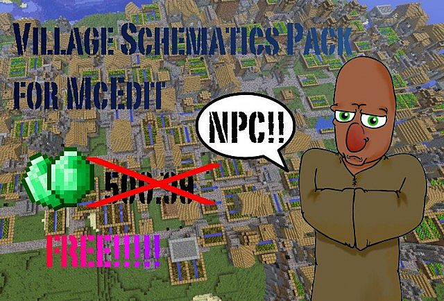 NPC Village schematics pack for McEdit Minecraft Project on