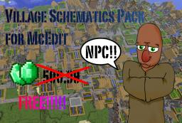 NPC Village schematics pack for McEdit Minecraft Project