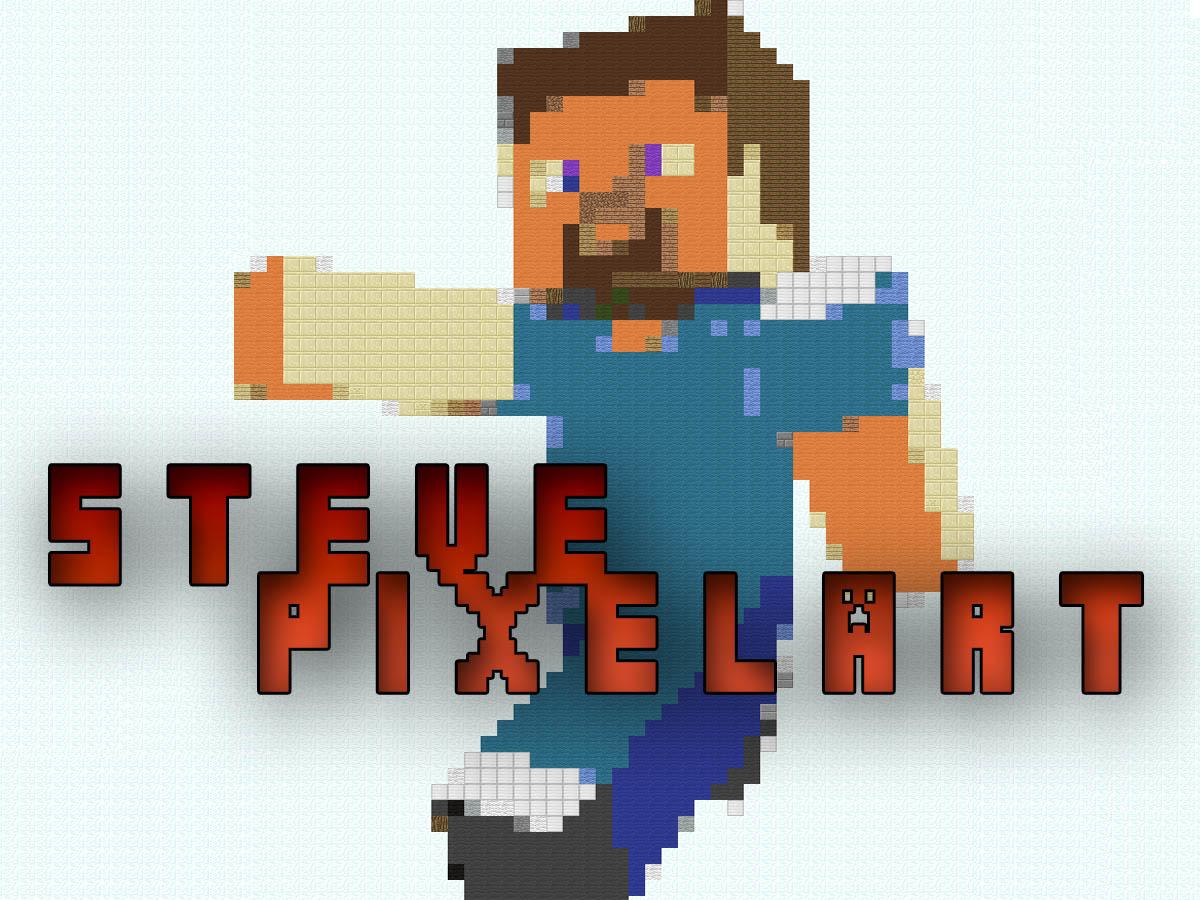 minecraft steve pixel art wwwimgkidcom the image kid