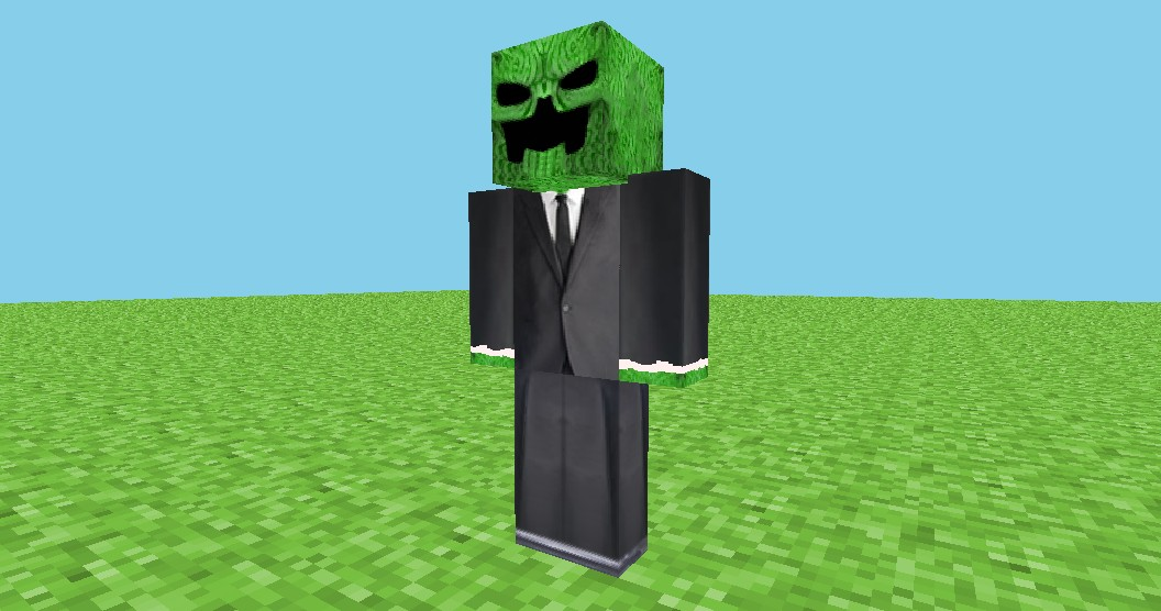Creeper in a suit - HD Skin Minecraft Blog