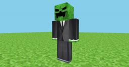 Creeper in a suit - HD Skin Minecraft Blog Post