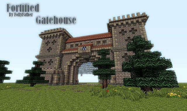 minecraft how to make castle gate