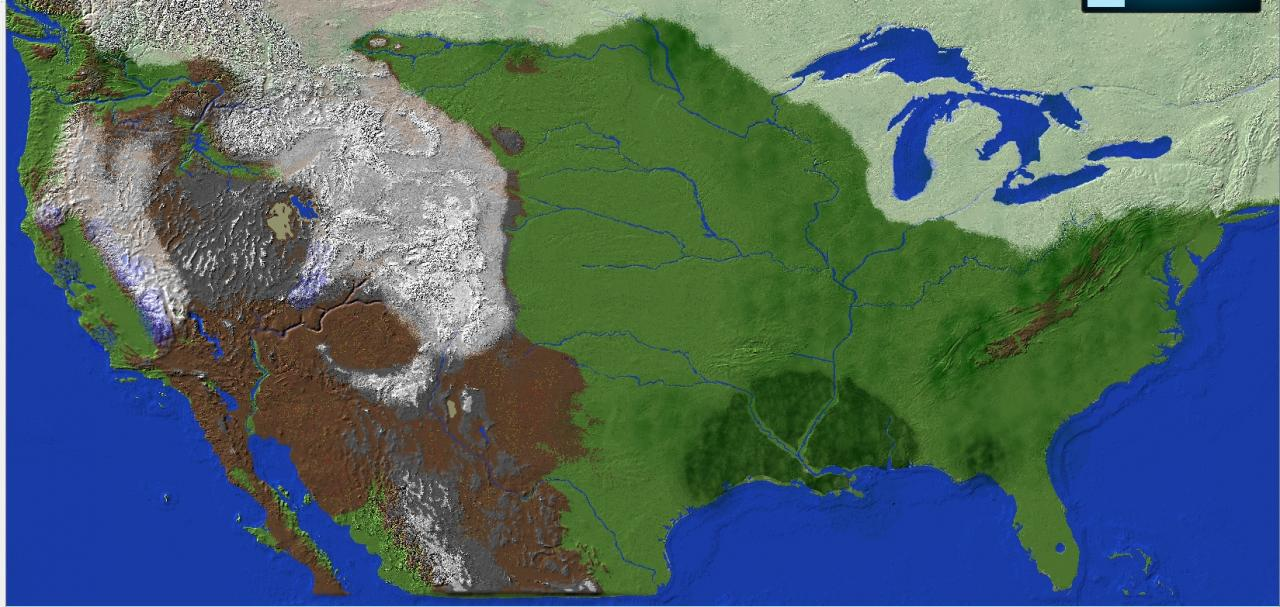 Map of America 1500 Scale Minecraft Project