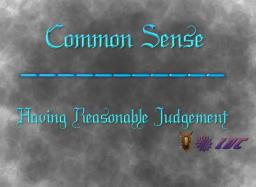 Common Sense - Having Reasonable Judgement Minecraft