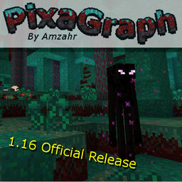 PixaGraph by Amzahr | Semi-Realistic Light Fantasy | 1.9 - 1.16.3 |  16x16 | Optifine Connected Texture Support! Minecraft Texture Pack