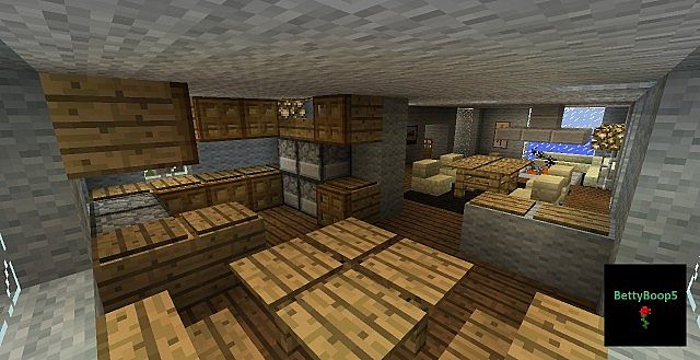 Modern house two bedroom minecraft project