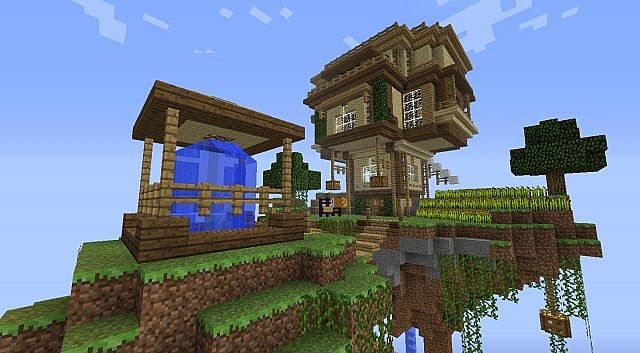 Floating Island House Minecraft Map