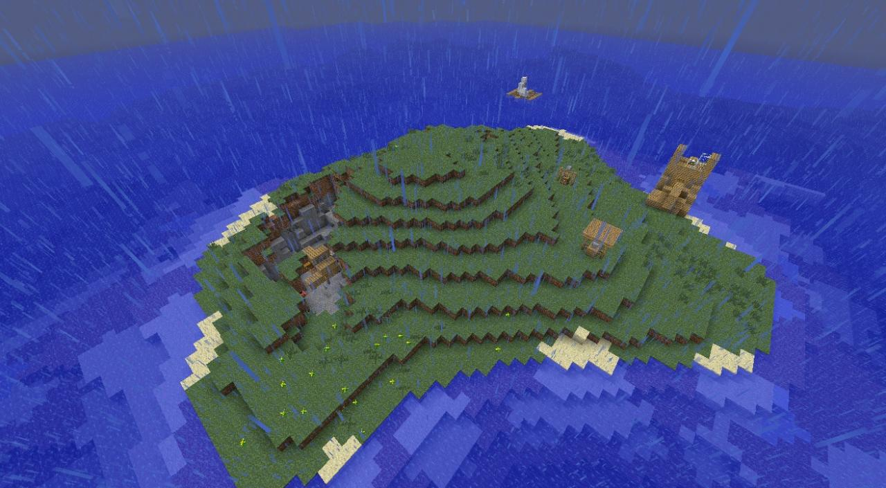 Survival island mini map! Take a look. Minecraft Project