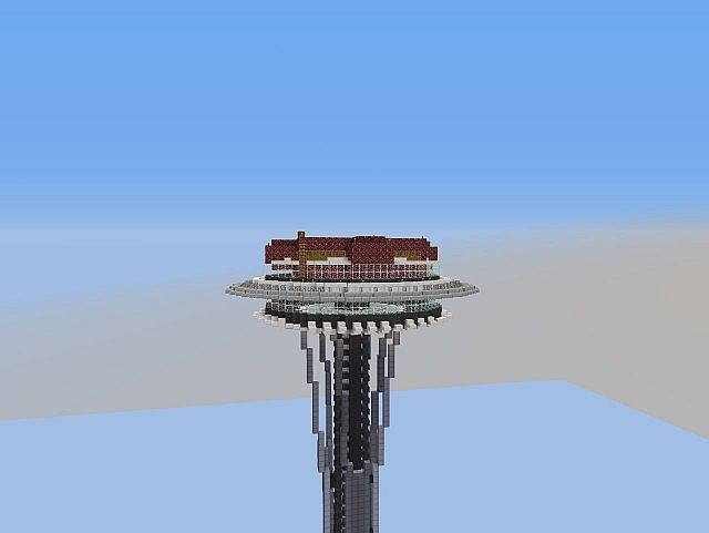 Seattle Space Needle Survival Project Minecraft Project
