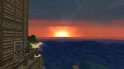 A Simple Minecraft Sunset :) Minecraft Blog