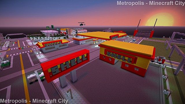 Gas Station Shell Minecraft Project