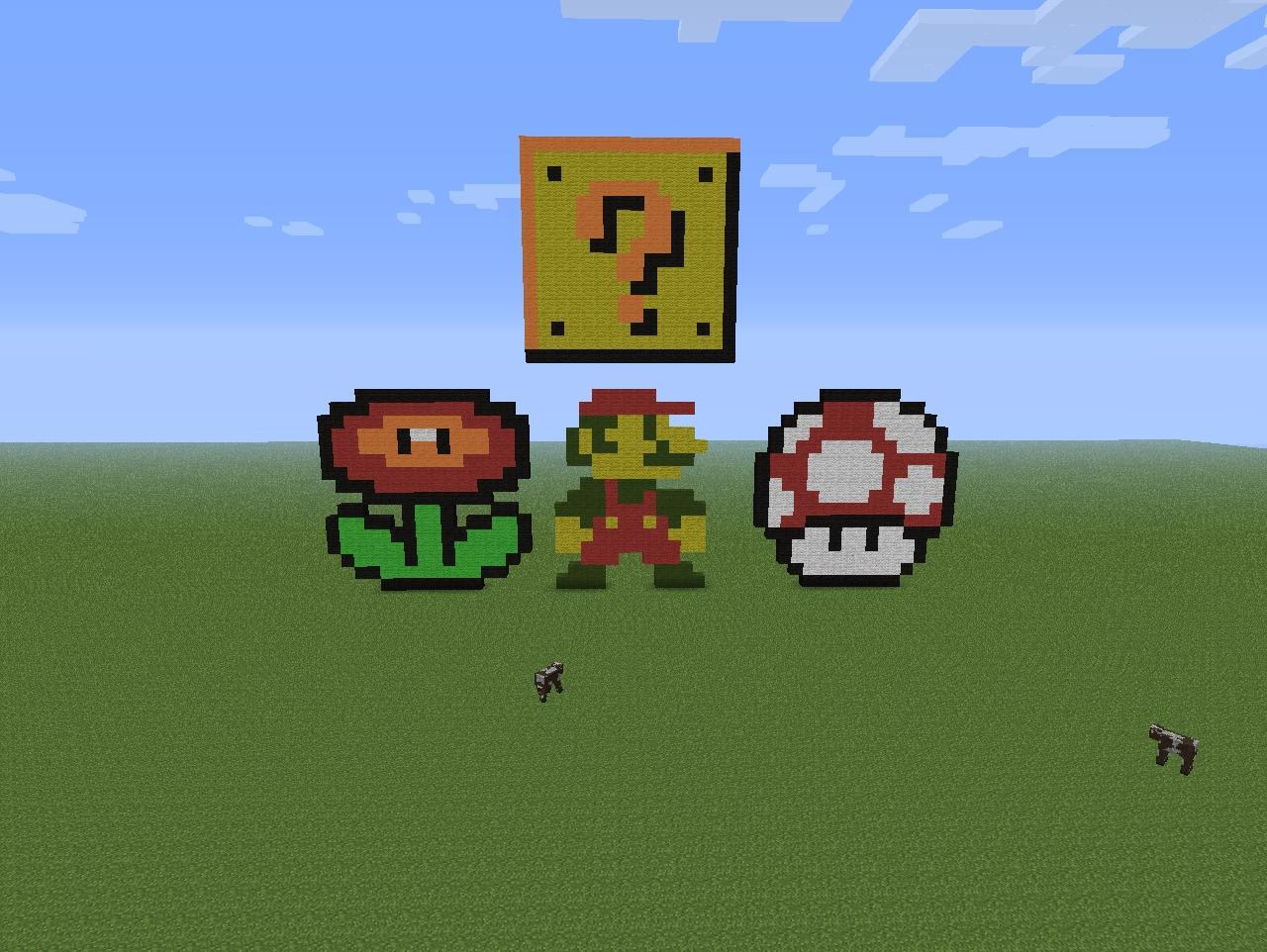Amazing SUPER MARIO PIXEL ART!