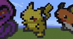 All 649 Pokemon Pixel Art [WIP] Minecraft Project