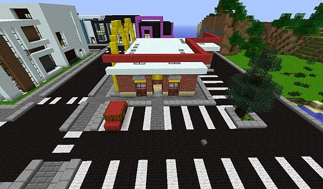 how to build mcdonalds in minecraft