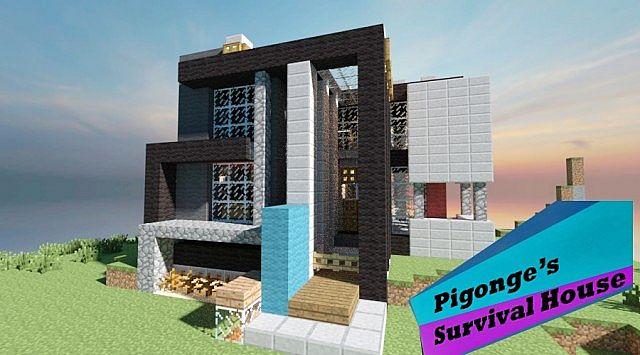 Pigonge S Contemporary Survival Starter House Minecraft Project
