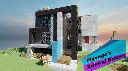Pigonge's Contemporary Survival Starter House Minecraft