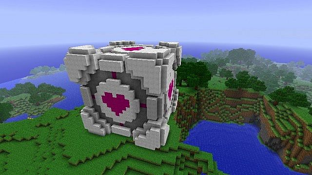 giant companion cube from portal minecraft project
