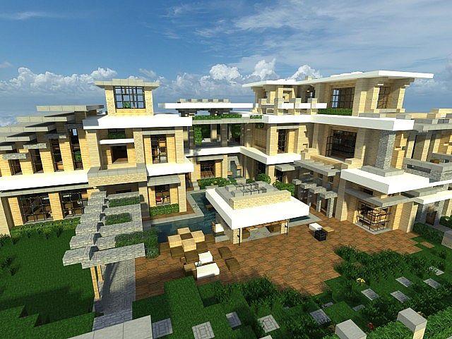 Modern Mansion 3   Series 1   Minecraft Project