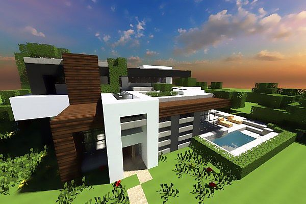 Immersed Contemporary Inc Modern Home Minecraft Project