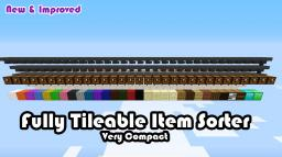 Tileable Item sorting system V2 (1.5 ready) Minecraft Map & Project