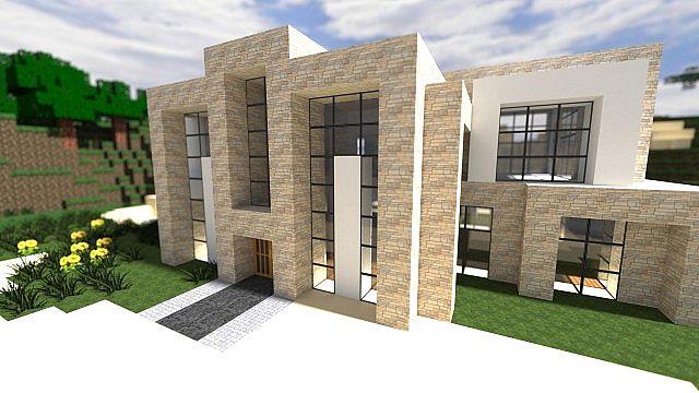 Luxury Modern House No Interior Minecraft Project