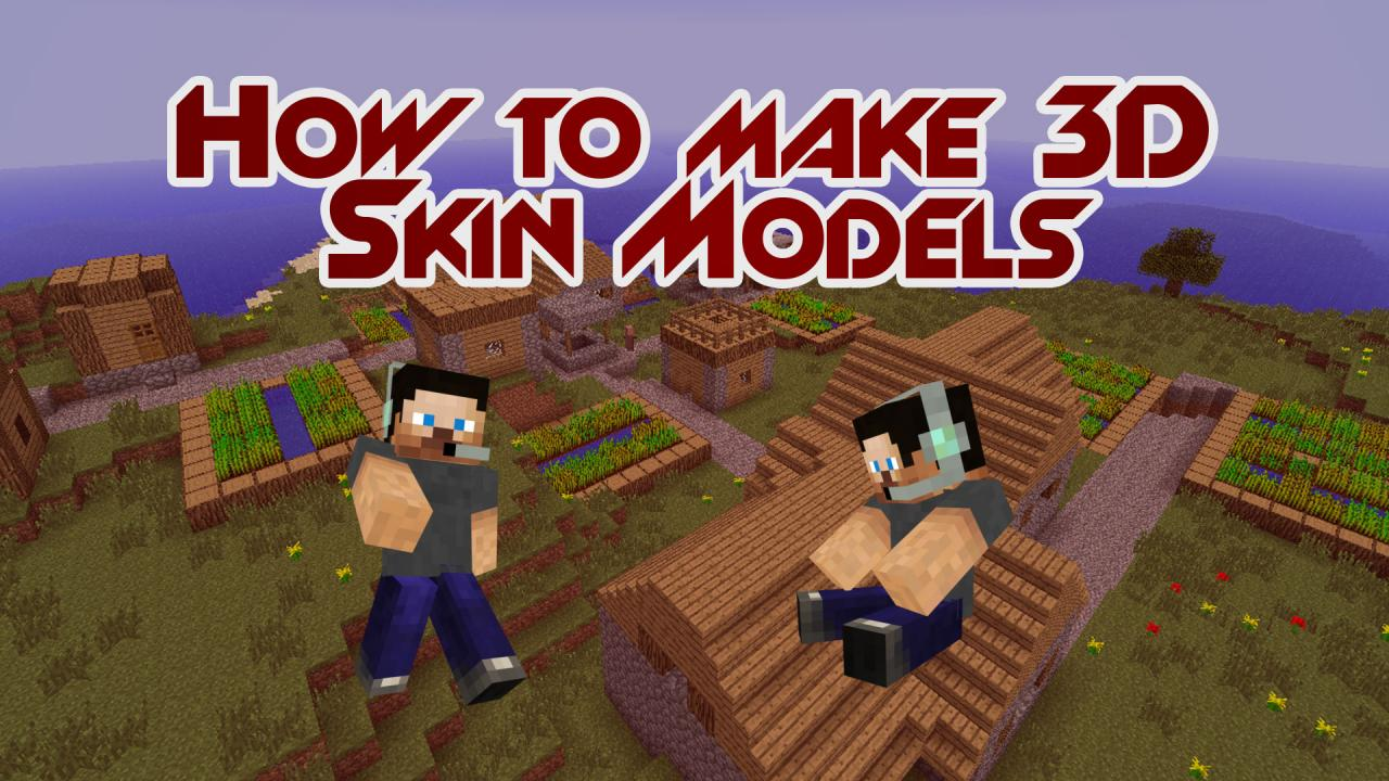 Make 3d png models of your minecraft skin minecraft blog Minecraft 3d model maker