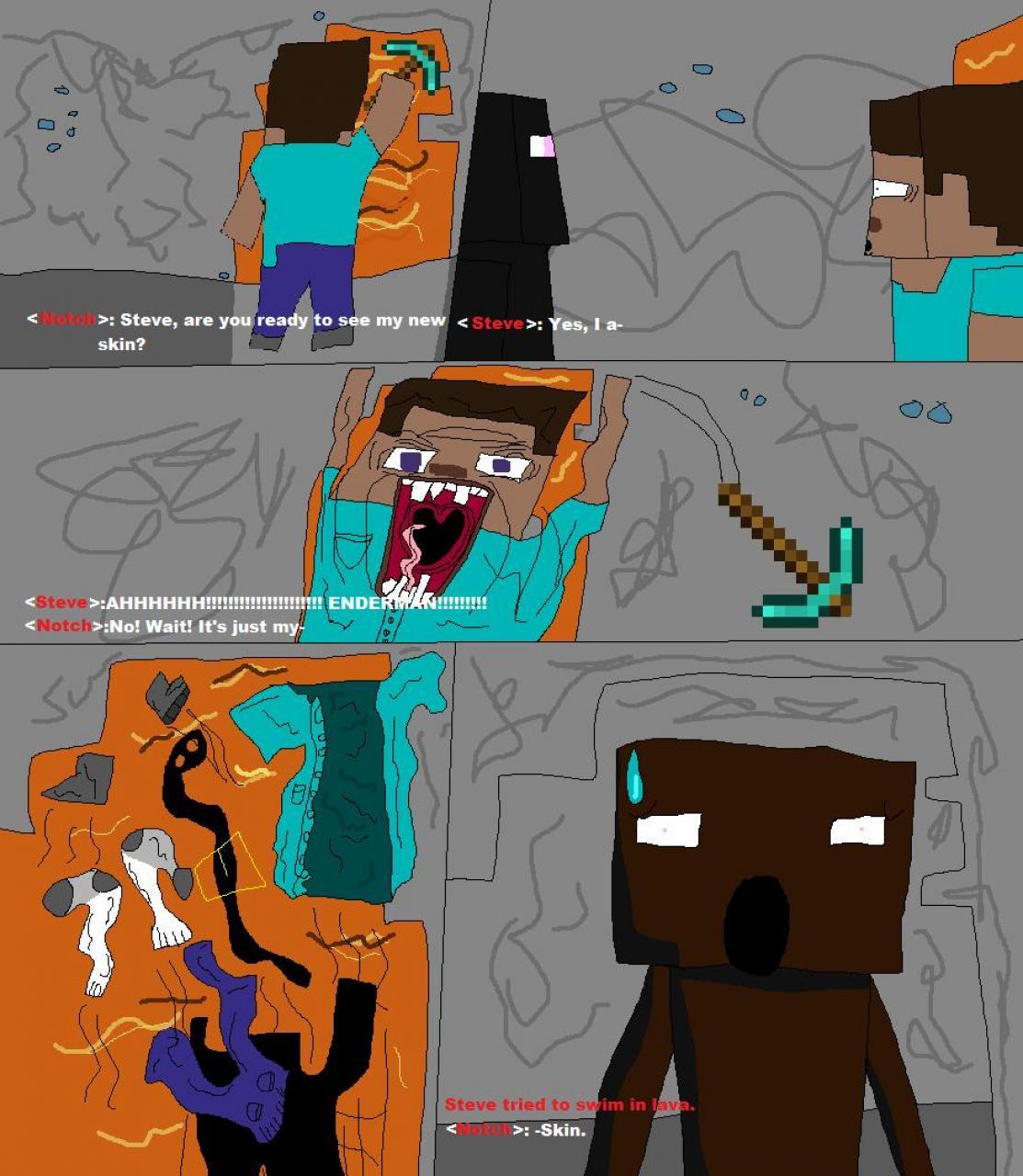 My minecraft comic 1921394 5 my minecraft comic 5 diamonds