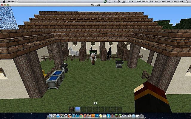 Medieval horse stable minecraft project for Building a horse stable