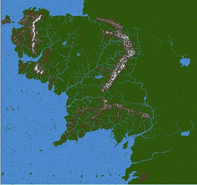 Wip massive middle earth map minecraft project the whole of the map 24k x 24k gumiabroncs Images
