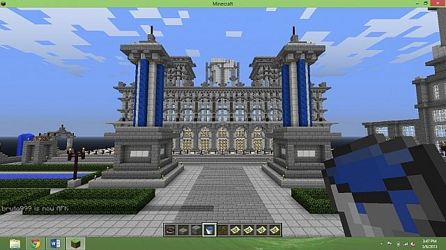 a big castle in our spawn