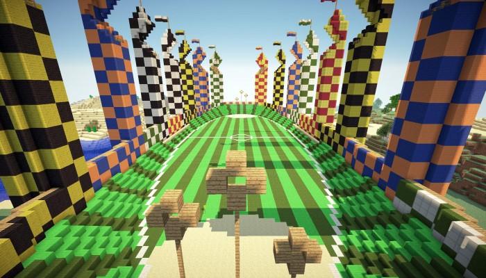 Quidditch Stadium From Hogwarts Pop Reel O Minecraft Project