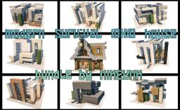 modern survival 10x10 house bundle , 9 houses Minecraft