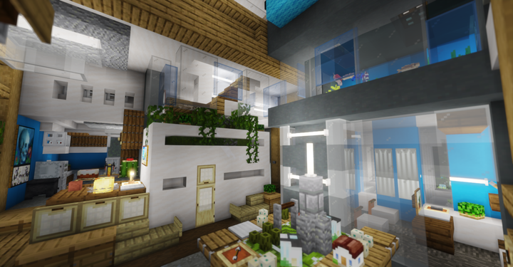Update 1 - Benches, no overhead lamp and more visible aquarium