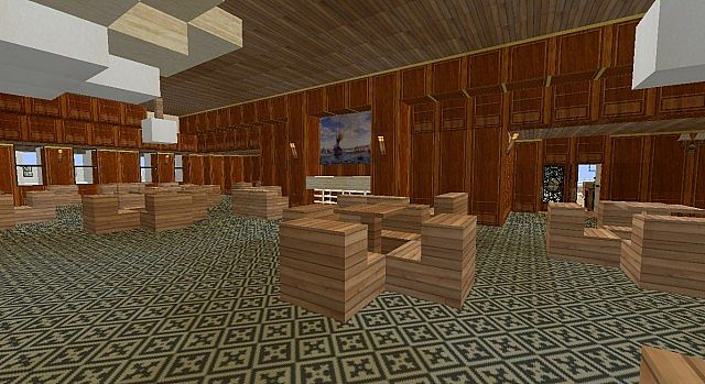 New Look First Class Smoking Room With Approach To Plymouth Harbor Painting