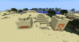 Sand pyramid at Spawn Minecraft Project