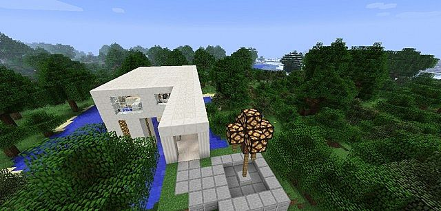 Quartz Modern House Minecraft Project