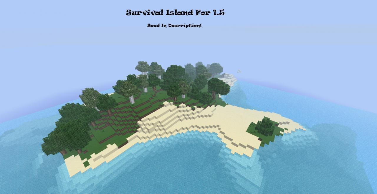 Survival island seed with a village